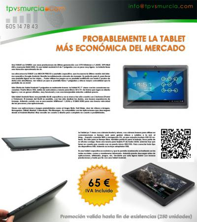 TABLET ANDROID 4.0 CAPACITIVA 1,2GHZ